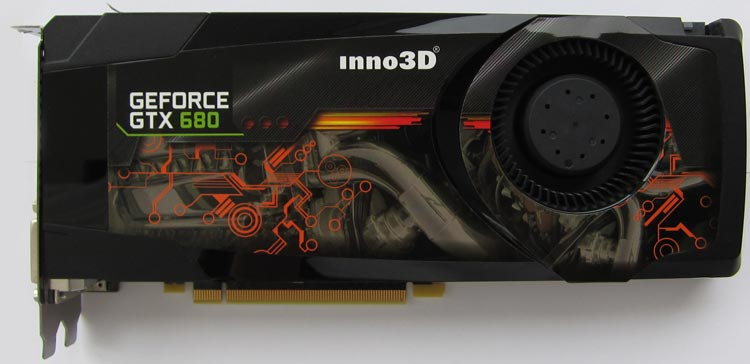 Inno 3D GeForce GTX 680 с эталонным кулером