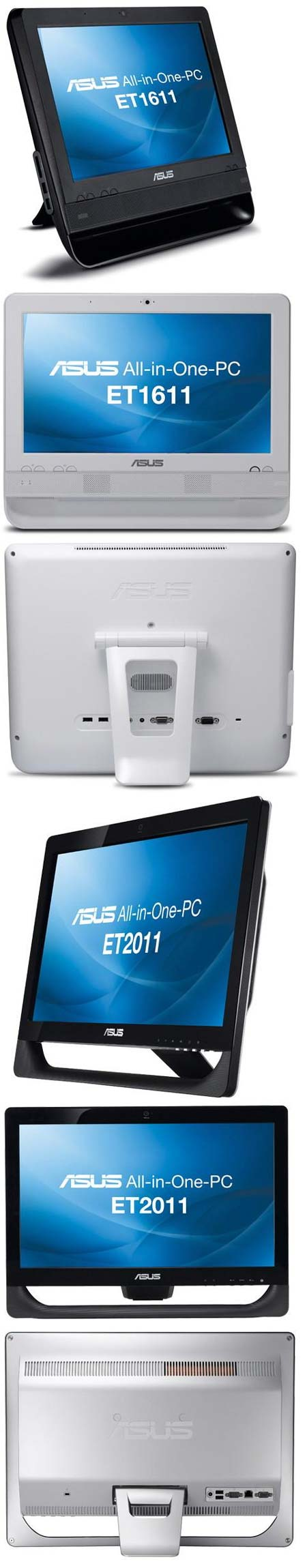 Новинки мира All-in-one от ASUS: ET1611PUT ET2011AUKB ET2011AUTB