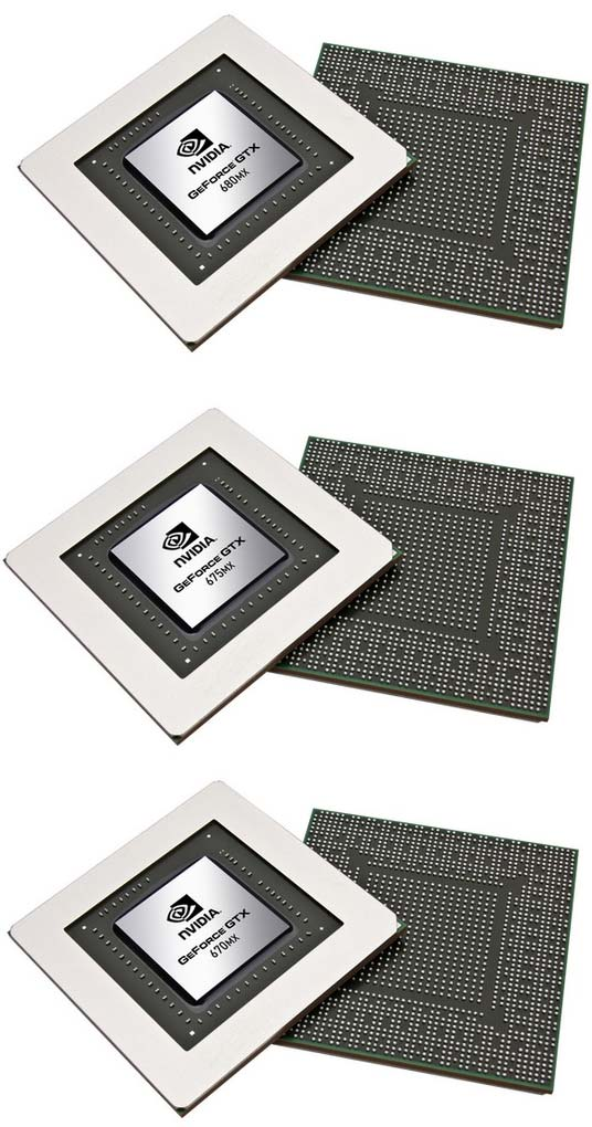 Фото GeForce GTX 680MX, 675MX и 670MX