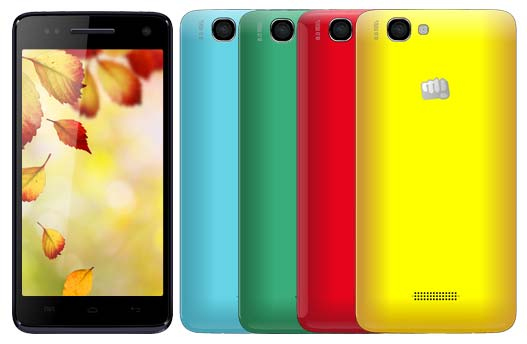 На фото показан аппарат Canvas 2 Colors A120 от Micromax