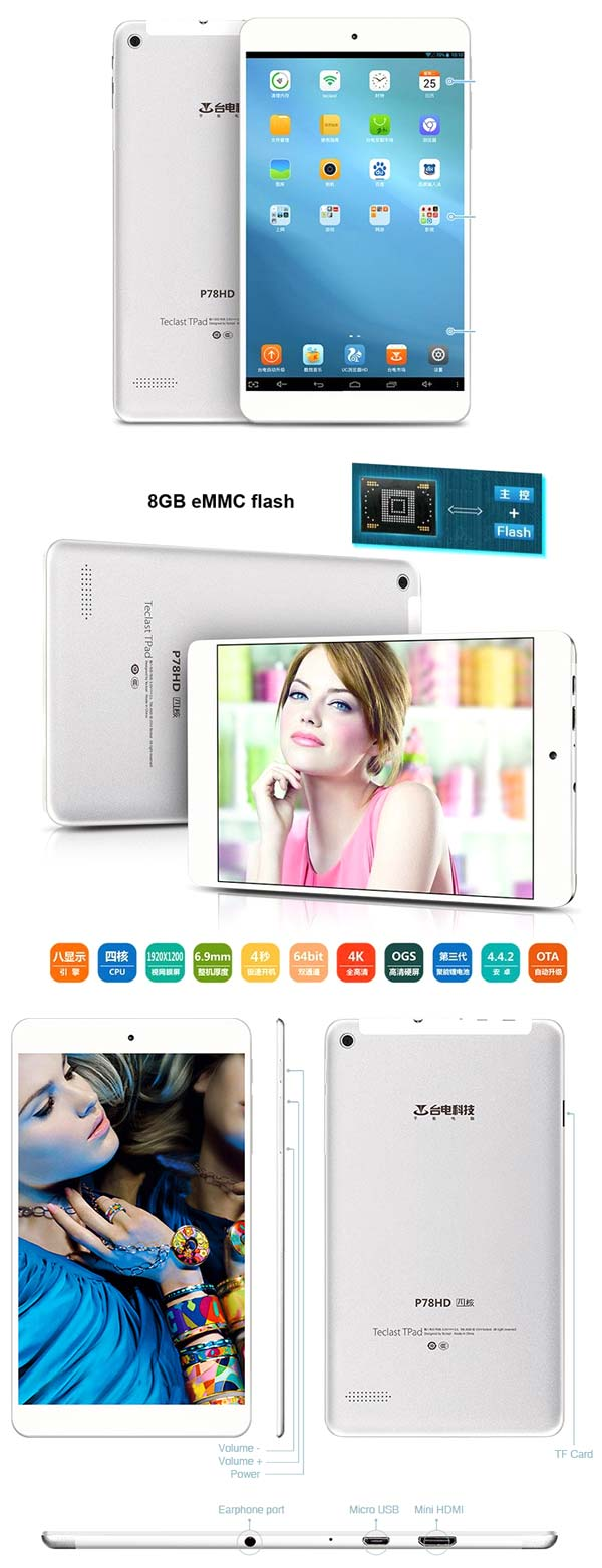 Teclast P78HD   7 дюймовый Retina планшет за $111