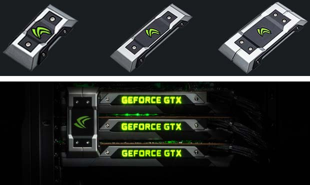 GeForce GTX SLI Bridges на фото