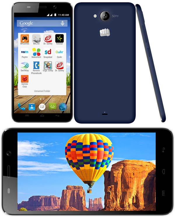 На фото можно узреть фаблет Canvas Play Q355 от Micromax