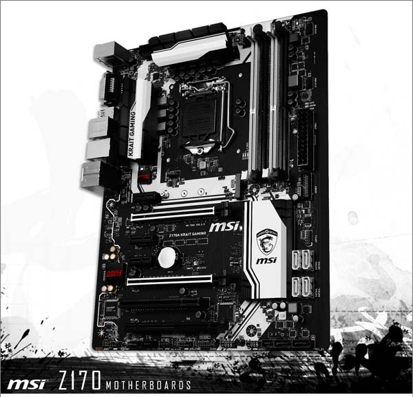 На фото материнская плата MSI Z170 Krait Gaming