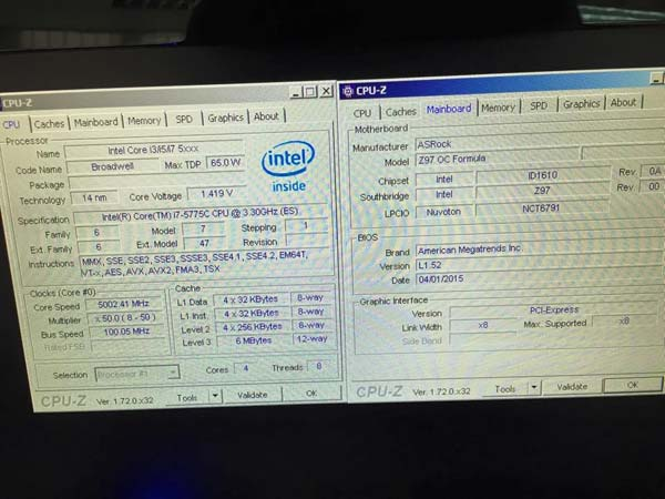 Разгон Intel Core i7-5775C Broadwell OCed, фото 3