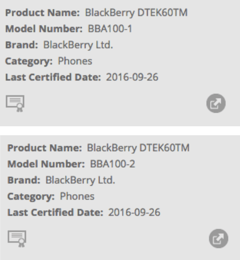 BlackBerry Argon (DTEK60)