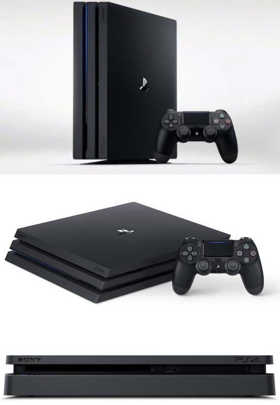 New PlayStation 4 и PlayStation 4 Pro